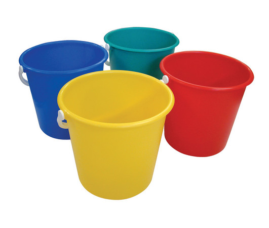 Plastic Bucket 10ltr - Colour Coded